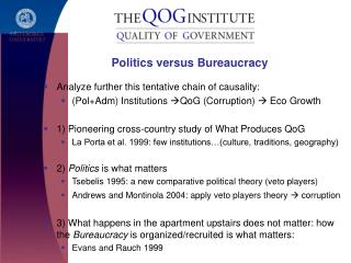 Politics versus Bureaucracy