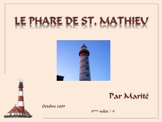 Le phare de st. Mathieu