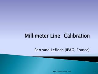 Millimeter  Line  Calibration