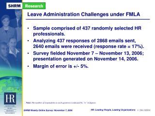 Leave Administration Challenges under FMLA