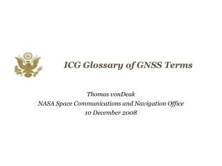 ICG Glossary of GNSS Terms