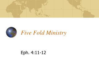 Five Fold Ministry