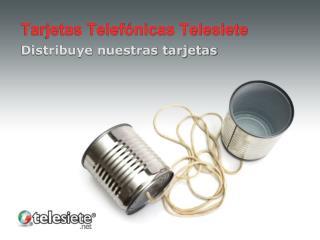 Tarjetas Telefónicas Telesiete
