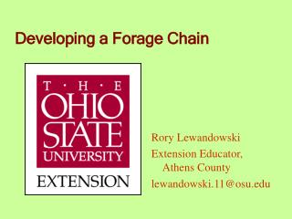 Developing a Forage Chain