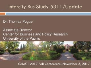Intercity Bus Study 5311/Update