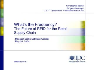 What's the Frequency? The Future of RFID for the Retail Supply Chain