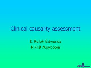 Clinical causality assessment