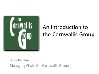 An Introduction to the Cornwallis Group