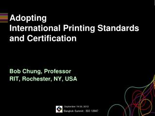 Adopting International Printing Standards and Certification