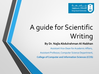 A guide for Scientific Writing
