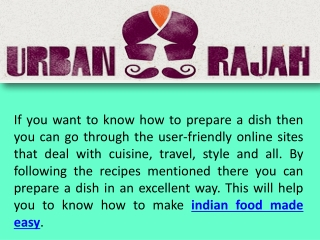 how to make indian food