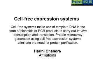Cell-free expression systems