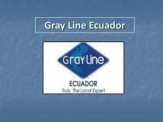 Ecuador Vacation