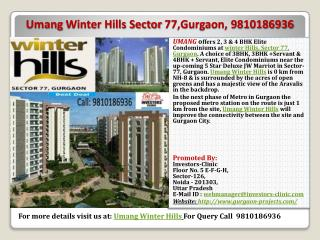 umang winter hills sector 77  gurgaon|9810186936|investors-c
