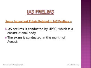 IAS prelims is conducted by UPSC