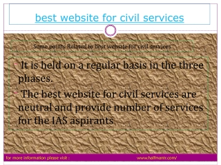 Everything you want to know about website for civil servic
