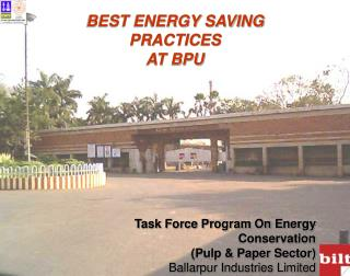 BEST ENERGY SAVING  PRACTICES  AT BPU