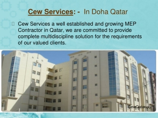 Commitment Engineering Works, CEW Services - Doha Qatar