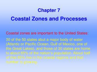 Coastal Zones and Processes