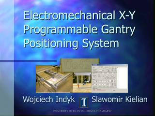 Electromechanical X-Y Programmable Gantry Positioning System