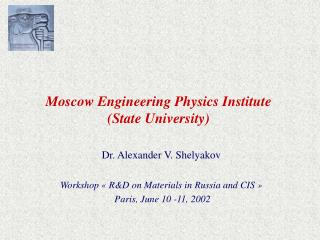 Moscow Engineering Physics Institute State University