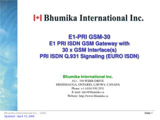 E1-PRI GSM-30 E1 PRI ISDN GSM Gateway with 30 x GSM Interface(s) PRI ISDN Q.931 Signaling (EURO ISDN)