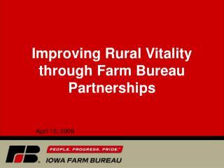 Improving Rural Vitality through Farm Bureau Partnerships