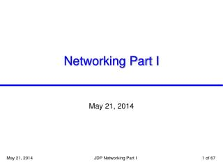 Networking Part I