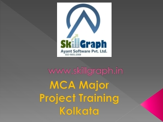 Mca major project training by Skillgraph