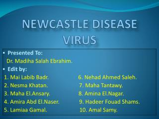 NEWCASTLE DISEASE VIRUS
