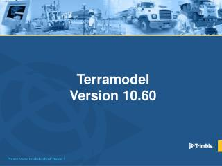 Terramodel Version 10.60