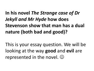 Using the description of Mr Hyde, that we are given in Chapter 2 when Mr Utterson meets him, complete the following task