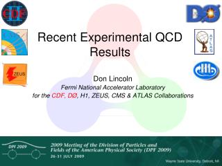 Recent Experimental QCD Results