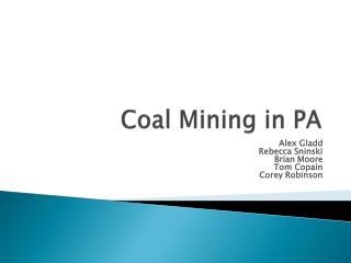 Coal Mining in PA