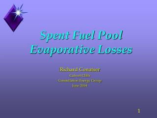 Spent Fuel Pool Evaporative Losses