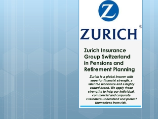 Zurich Group Switzerland in Pensions and retirement planning