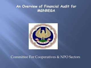 Committee For Cooperatives & NPO Sectors