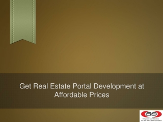Get Real Estate Portal Development at Affordable Prices