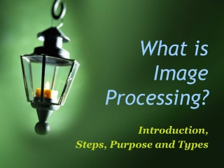 What is image processing ?