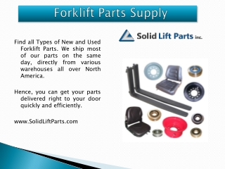 New Forklift Parts