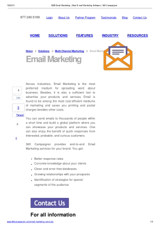 B2B Email Marketing Software from 360 Campaigner