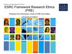 esrc framework research ethics fre