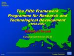 Building on the past European Commission DG XII