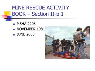 MINE RESCUE ACTIVITY  BOOK – Section II-b.1