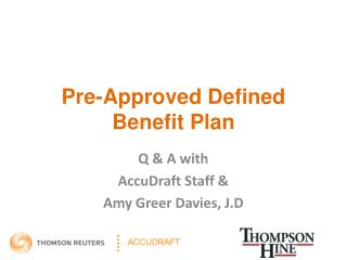 Pre-Approved Defined Benefit Plan