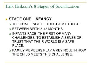 Erik Erikson's 8 Stages of Socialization