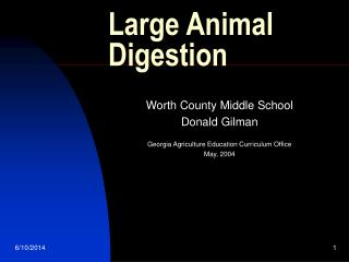 Large Animal Digestion