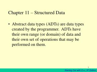 Chapter 11 – Structured Data