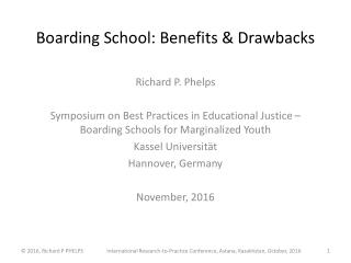 Boarding School: Benefits & Drawbacks