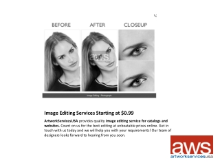 Image Editing Service for Catalogs starting at $0.99
